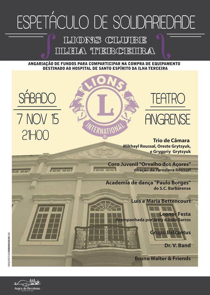 '''Espetáculo de Solidariedade Lions Clube Terceira'''
